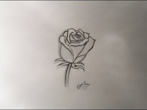 dessiner une rose speed drawing youtube. Black Bedroom Furniture Sets. Home Design Ideas