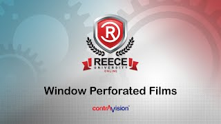 ReeceU - Contravision - Perforated Window Films