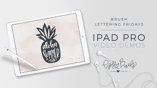 Video Brush Lettering Fridays on iPad Pro and Procreate Aloha Summer download MP3, 3GP, MP4, WEBM, AVI, FLV September 2017