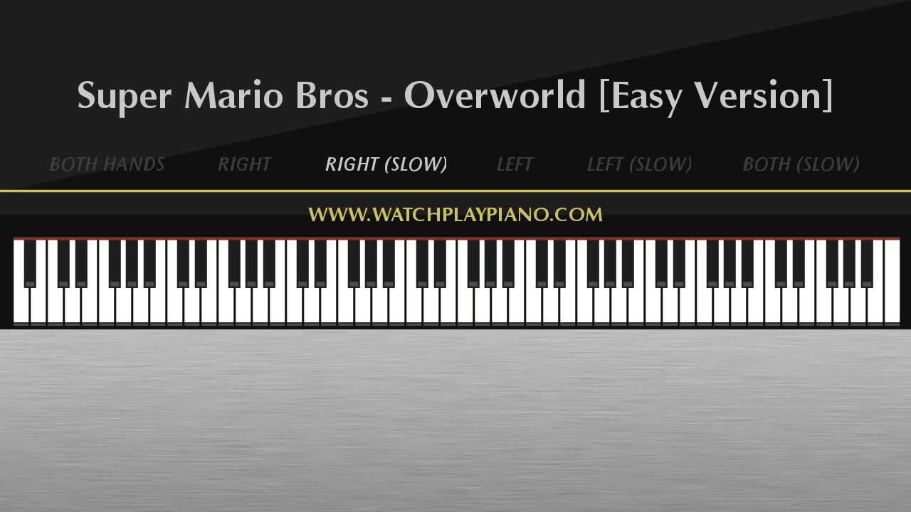 Super Mario Bros - Overworld (Main Theme) [Easy Piano Tutorial]