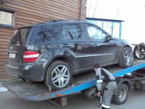 Перевозка автомобиля Mercedes-Benz ML на эвакуаторе