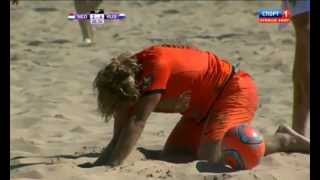 Пляжный футбол.Россия - Голландия. Евролига. Суперфинал. Голы 5-4