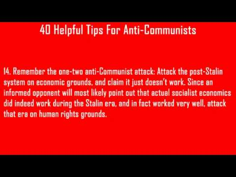 40 Helpful Tips For Anti-Communists