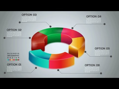 Vector 3D Pie Chart Infographic Design Template Free Illustrator Tutorial