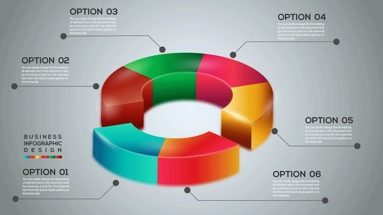 vector 3d pie chart infographic design template free illustrator