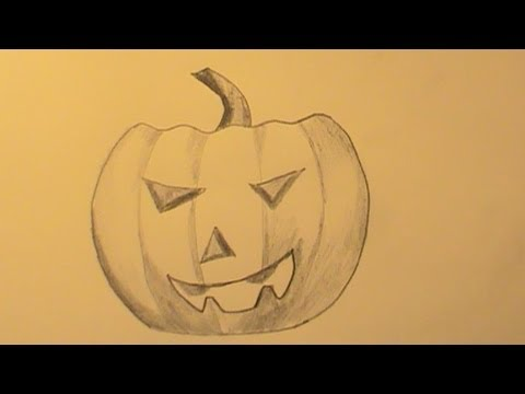 how-to-draw-a-pumpkin-head-quickly