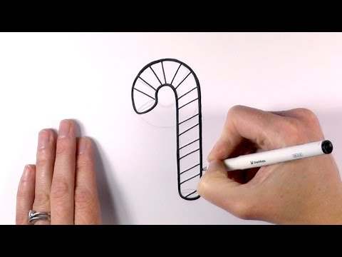How to Draw a Cartoon Christmas Candy Cane