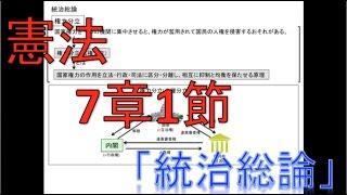 [憲法] 7章-1.統治総論