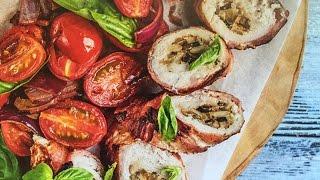 Быстрый УЖИН ДОМА - МЯСНЫЕ РУЛЕТЫ с грибной начинкой и томатами конфи / РЕЦЕПТ