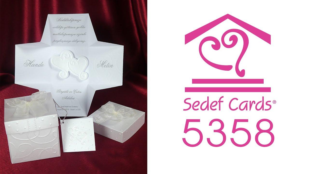 Sedef Cards © | 5358 | Concept Collection | Düğün Davetiyeleri | Wedding  Invitation - YouTube