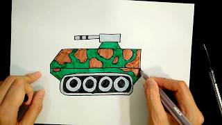 How to draw an Armored vehicles【Ginger