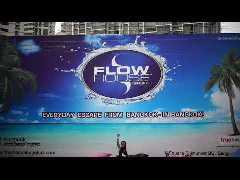 Flow House Bangkok FlowRider Pro Riders Tricks and Fails Thailand Surf Sheet Wave Machine