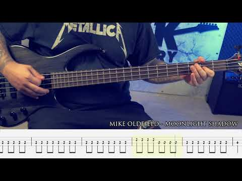 MIKE OLDFIELD - Moonlight Shadow [BASS COVER + TAB]