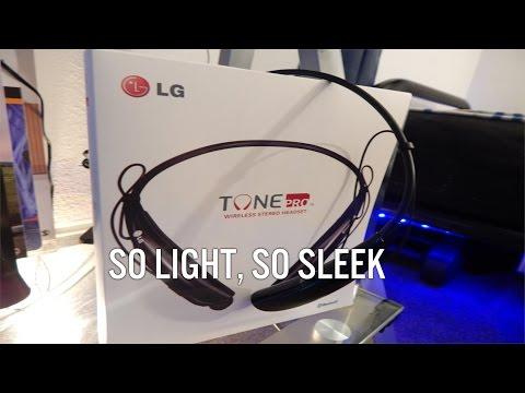 LG Tone Pro Bluetooth Headset Unboxing + Sound Test