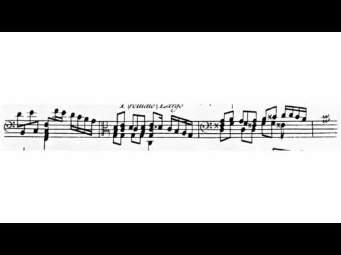 Jacob Riehmann or Richmann  Prelude from a sonata for viola da gamba and BC.