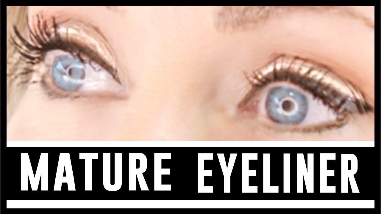 over 50 makeup tutorial | eyeliner