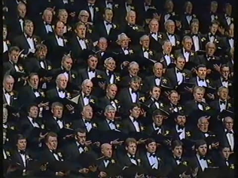 "Treorchy Male Choir singing ""Sanctus"" on St David's Day, 1989"