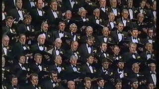"Treorchy Male Choir singing ""Sanctus"" on St David"