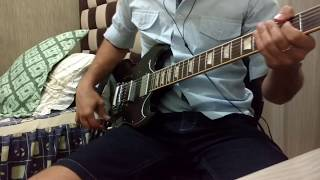 Gibson SG standard and Line 6 Helix LT.