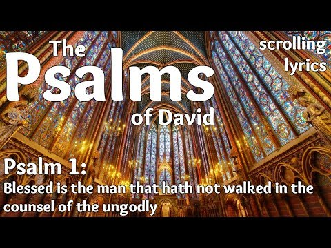 ♫ Psalm 1 | Blessed is the man | with LYRICS