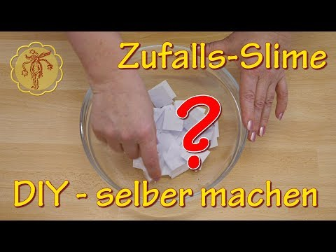 Slime: Zufalls-Slime – 18 Slime-Zutaten auslosen – selber machen – DIY