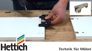 Cabinet Assembly With Vb Fittings And Drilljig Vb From Hettich, Incl. Drilling Cabinet Side Panels