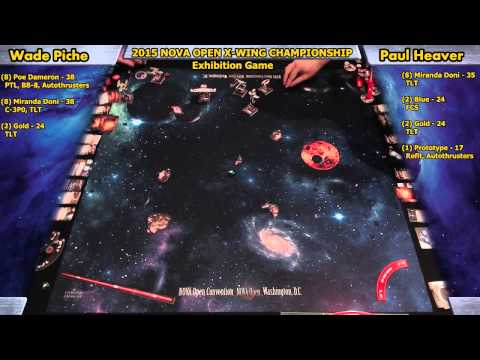 X-Wing Miniatures New Core Set Exhibition Game, Wade Piche vs. Paul Heaver