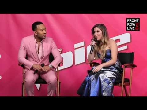Maelyn Jarmon & John Legend Press Conference | The Voice ...