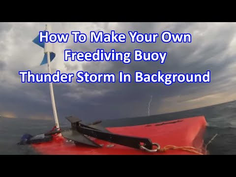 How to make your own Buoy - Original (thunder storm in background)Ricketts Point Marine Sanctuary