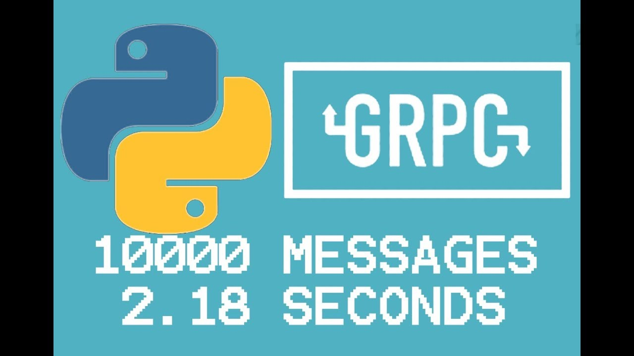 10000 Messages in 2 18 seconds with Python and gRPC