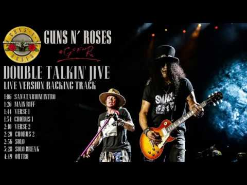 Guns N' Roses - Double Talkin' Jive - Live Version Guitar Backing Track