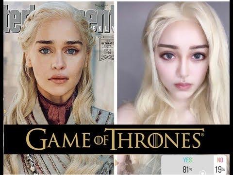 【权力的游戏龙母彷妆】史诗最强剧 英伦深邃轮廓 冰与火之歌 Game of Thrones Daenerys Targaryen / Emilia Clarke Makeup Tutorial