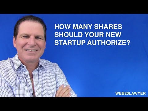 How many shares should your new tech startup authorize?