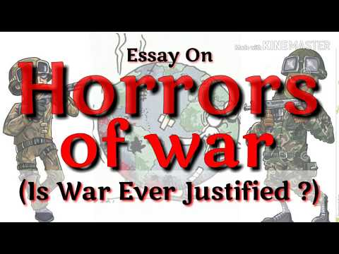 Видео Essay on ill effects of war
