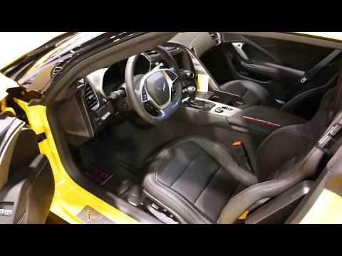 New  GM Chevrolet Corvette Grand Sport Interior Tour -  OC Auto Show, Anaheim, CA