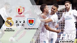Real Madrid vs Numancia 2-2 [5-2] Copa Del Rey - Highlights & Goals 11/01/ 2018