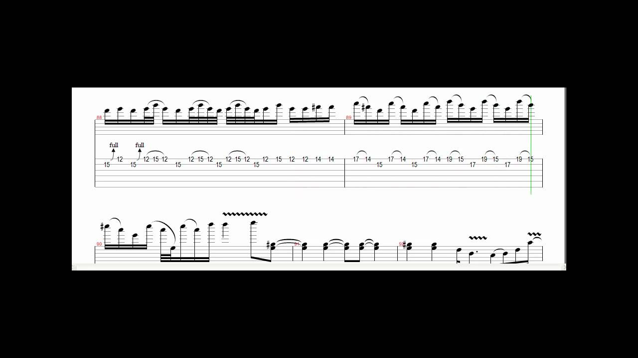 metallica enter sandman solo tab - YouTube