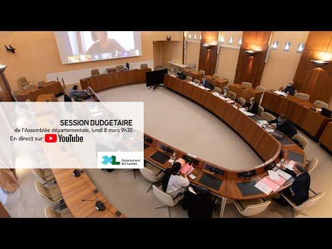 Diffusion en direct de l'Assemblée départementale des Landes du lundi 8 mars 2021