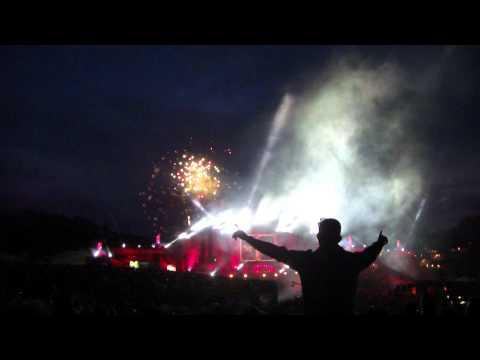 [HD] Tomorrowland 2012  - Technical problem during David Guetta's set