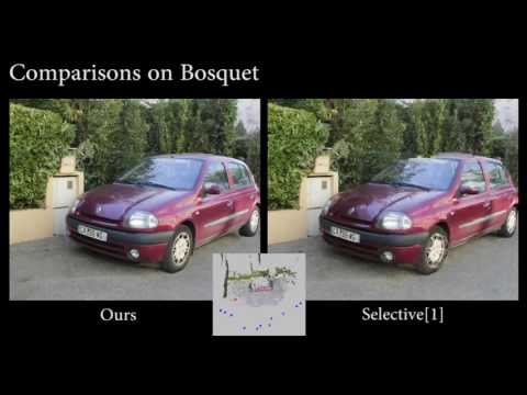 Automatic 3D Car Model Alignment for Mixed Image-Based Rendering