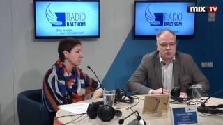 """Илзе Непарте и Валдис Керис в программе """"Утро на Балткоме""""  #MIXTV"""
