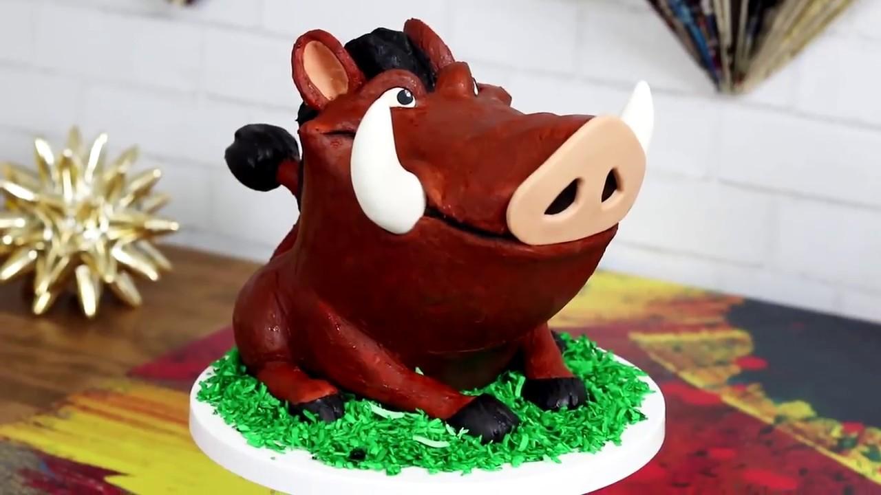 Pumba Cake: The Lion King PUMBA CAKE! How To