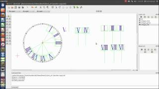 Making A Clock Face In Librecad Part 2