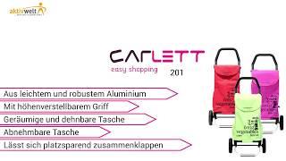 Produktvideo zu Leichtgewichtiger Einkaufstrolley Carlett Lett 201 Red Velvet