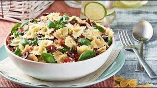 [EN] Tuscan Pasta Salad / سلطة توسكان بالمعكرونة - CookingWithAlia - Episode 741