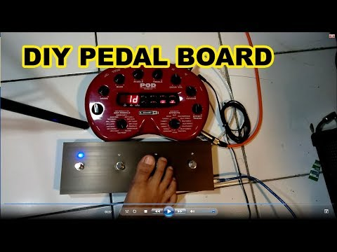 DIY Pedal Board POD 2 line 6 , DIY Foot switch part 2 - YouTube on