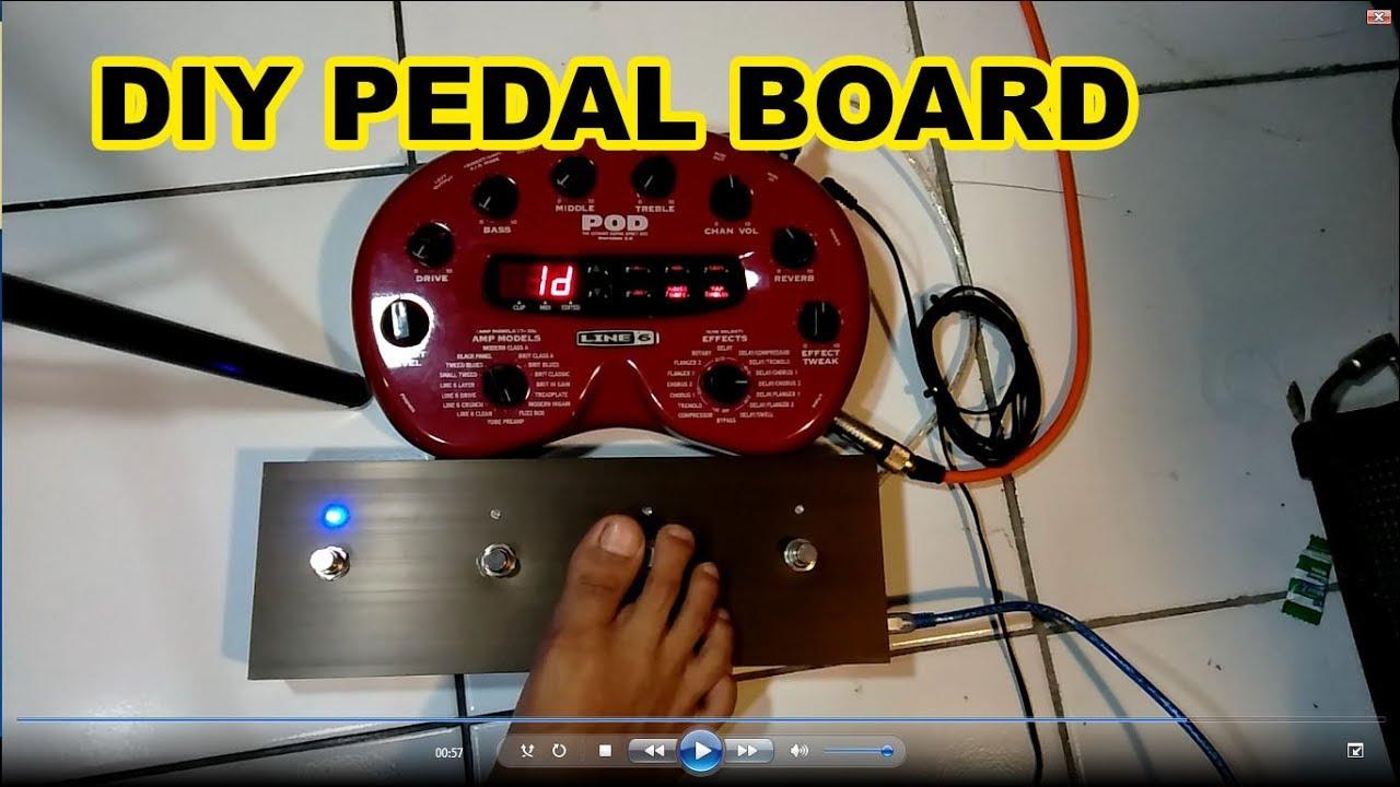 Diy Pedal Board Pod 2 Line 6   Diy Foot Switch Part 2