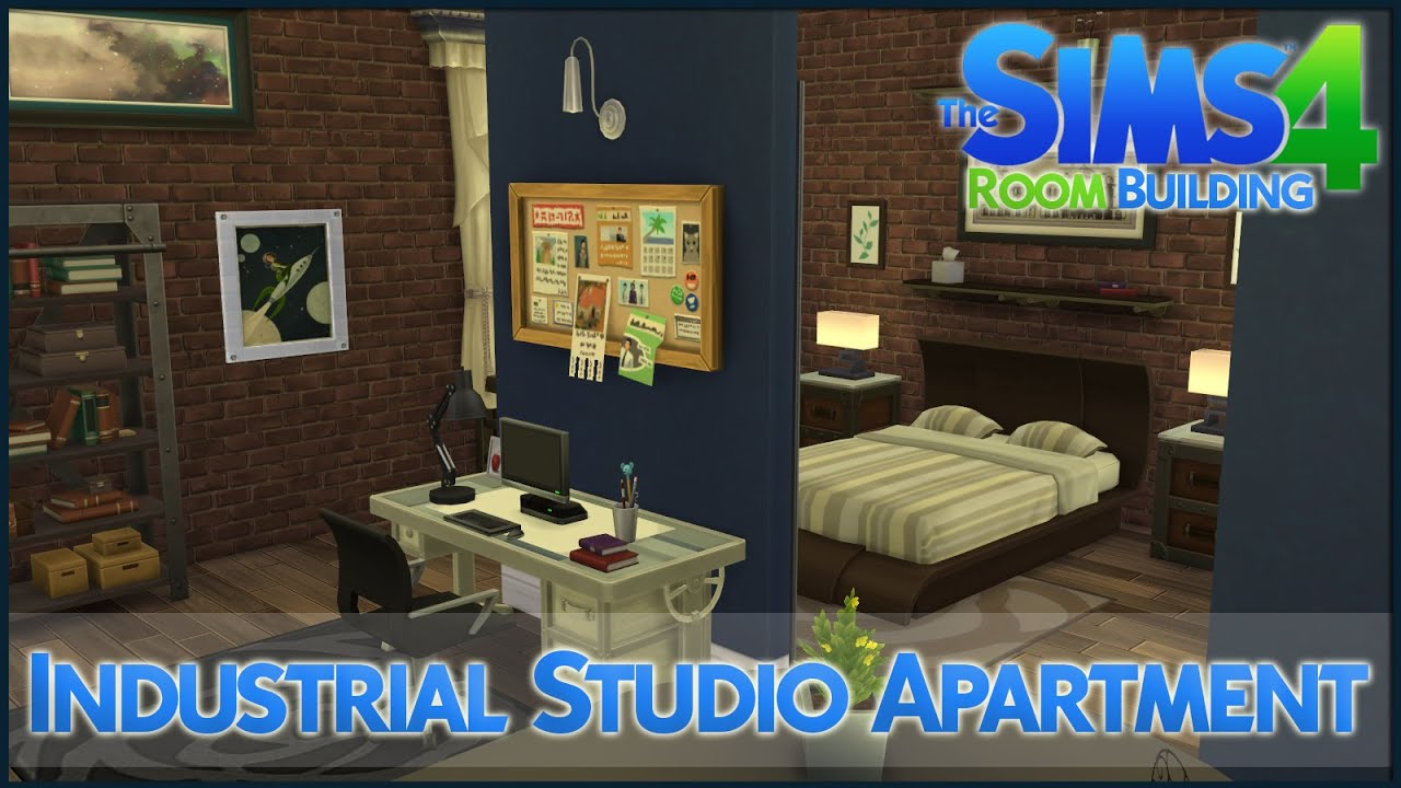 industrial studio apartment.  The Sims 4 Room Building Industrial Studio Apartment YouTube