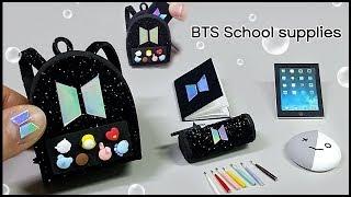 Diy Miniature BTS school supplies ~  어서와 ! 미니어쳐 BTS 학교세트를 만들기는 처음이지!?| 희꽁 만들기