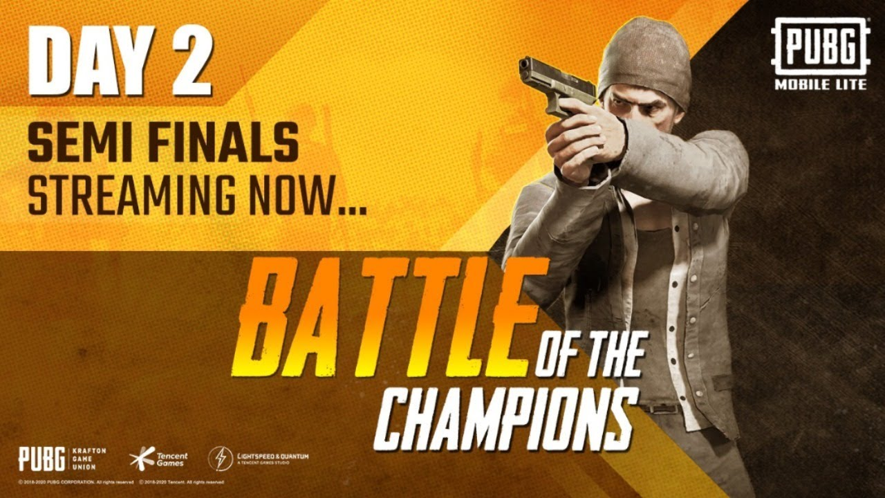 PUBG MOBILE Lite- Battle of the Champions |Semi Finals| Day 2